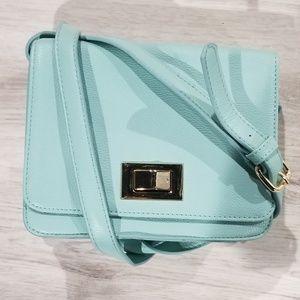 Forever 21 light blue crossbody bag
